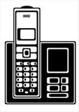 Telefono cordless di vettore isolato su bianco illustrazione di stock