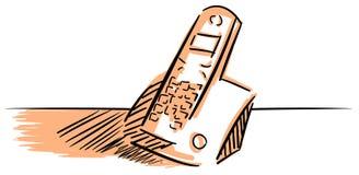 Telefono cordless isolato stilizzato illustrazione di stock