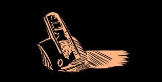 Telefono cordless stilizzato illustrazione vettoriale
