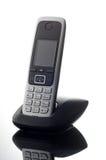 Telefono cordless su fondo bianco Immagini Stock Libere da Diritti