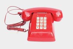 Telefono d'annata con del microtelefono sollevato fotografia stock