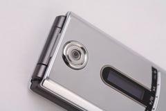 Telefono d'argento della macchina fotografica Fotografia Stock Libera da Diritti