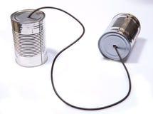 Telefono del barattolo di latta fotografie stock libere da diritti