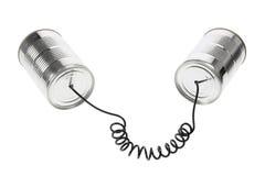 Telefono del barattolo di latta Immagini Stock Libere da Diritti