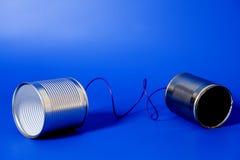 Telefono del barattolo di latta Fotografie Stock