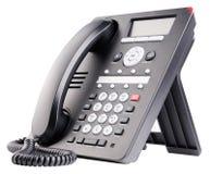 Telefono del IP dell'ufficio isolato Fotografia Stock