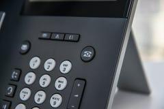 Telefono del IP - telefono dell'ufficio Immagine Stock Libera da Diritti