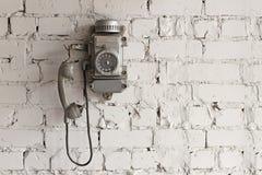 Telefono del metallo Fotografia Stock Libera da Diritti