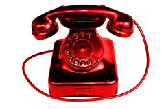 Telefono dell'annata isolato nella priorità bassa bianca Immagini Stock Libere da Diritti