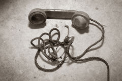 Telefono dell'oggetto d'antiquariato Fotografie Stock Libere da Diritti