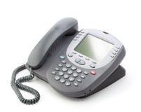 Telefono dell'ufficio con un grande schermo fotografia stock