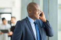 Telefono dell'uomo d'affari Fotografia Stock Libera da Diritti