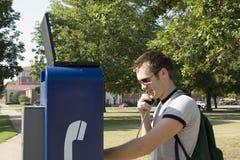Telefono della città universitaria fotografia stock
