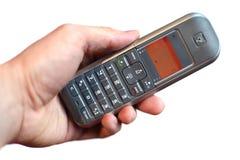 Telefono della holding della mano Fotografia Stock Libera da Diritti