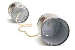 Telefono della latta dei bambini Immagini Stock