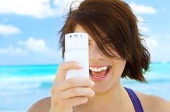 telefono della macchina fotografica Fotografie Stock Libere da Diritti
