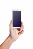 Telefono della mano Fotografia Stock Libera da Diritti