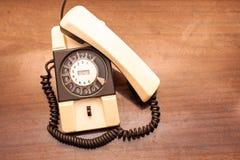 Telefono della manopola rotativa dell'annata Fotografie Stock