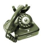 Telefono della manopola rotativa dell'oggetto d'antiquariato Fotografia Stock Libera da Diritti