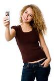 Telefono della maschera Fotografia Stock