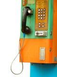 Telefono della moneta Immagini Stock