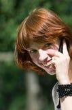 telefono della ragazza Fotografia Stock