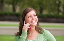 telefono della ragazza Fotografia Stock Libera da Diritti