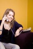 telefono della ragazza Immagini Stock Libere da Diritti