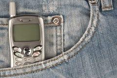 Telefono delle cellule in casella Fotografia Stock Libera da Diritti