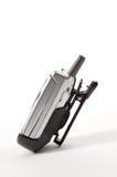 Telefono delle cellule in clip della fascia Immagini Stock Libere da Diritti