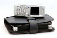 Telefono delle cellule con l'organizzatore 2 Fotografie Stock Libere da Diritti