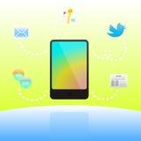 Telefono delle cellule con le caratteristiche utili royalty illustrazione gratis