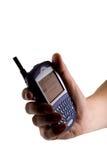 Telefono delle cellule della mora a disposizione fotografia stock