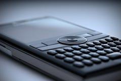 Telefono delle cellule di alta tecnologia - azzurro Fotografia Stock Libera da Diritti