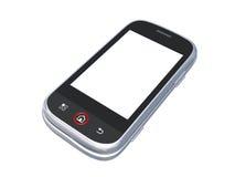 Telefono delle cellule isolato su bianco con il percorso di residuo della potatura meccanica Fotografie Stock
