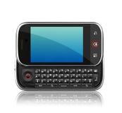 Telefono delle cellule su priorità bassa bianca Fotografia Stock