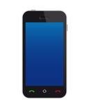 Telefono dello schermo attivabile al tatto Fotografie Stock Libere da Diritti