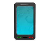 Telefono dello schermo attivabile al tatto Immagini Stock