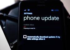 Telefono dello smartphone di Microsoft Nokia Lumia Immagini Stock Libere da Diritti