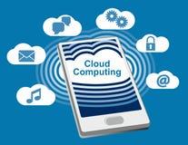 Telefono di calcolo della nuvola Fotografia Stock