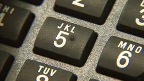 Telefono di composizione stock footage