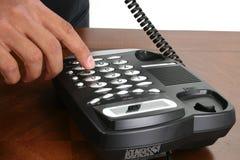 Telefono di composizione della mano Immagine Stock