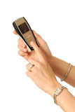 Telefono di composizione delle cellule Fotografia Stock