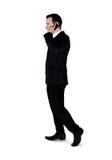 Telefono di conversazione dell'uomo di affari Immagini Stock Libere da Diritti