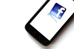 Telefono di Facebook Immagini Stock