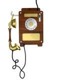 Telefono di legno di vecchio stile Fotografia Stock