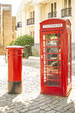 Telefono di Londra e contenitore di posta Fotografia Stock Libera da Diritti