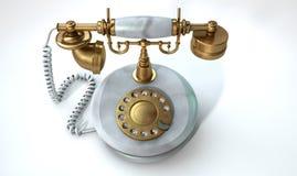 Telefono di marmo d'annata Immagine Stock