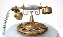 Telefono di marmo d'annata Immagini Stock Libere da Diritti