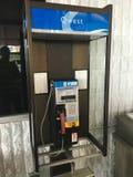 Telefono di paga di Qwest al deposito Fotografia Stock
